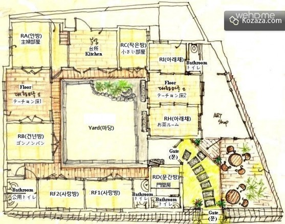 유진 한옥게스트하우스 (RH&RI, 3인실)