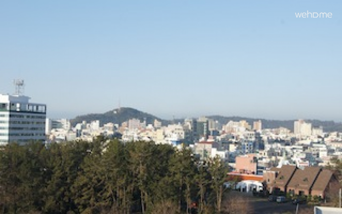 Seogwipo in the foreground