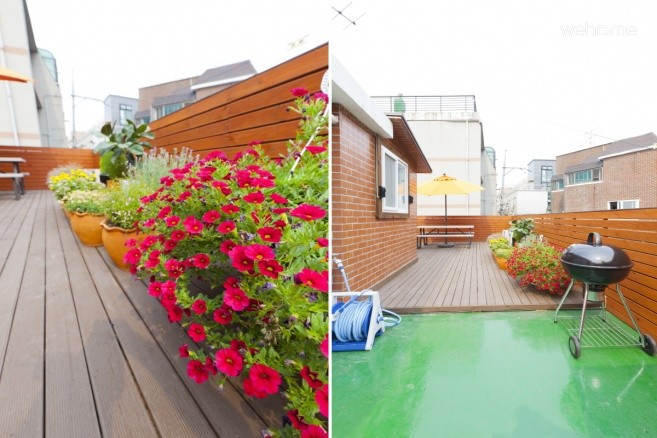 - Rooftop terrace (Bench, Table, Parasol, BBQ Grill)