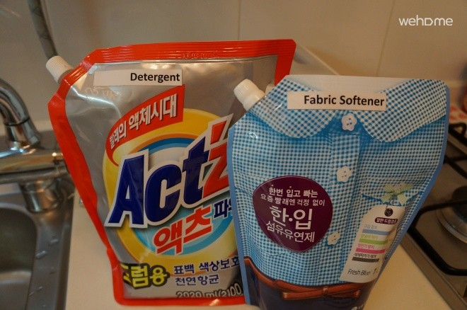 Detergent and Fabric Softner