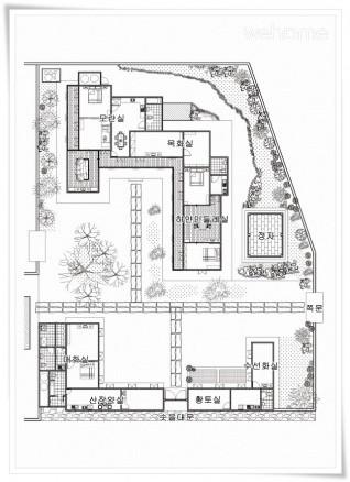 Danchon Chungbuk vow old house - the scholar debt (haengrangchae) Narcissus Room