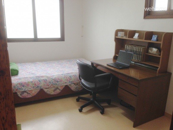 Comfortable bed and desk