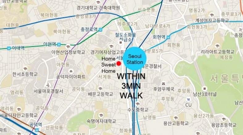 Seoul Stn2min+Center+2queen+Cozy