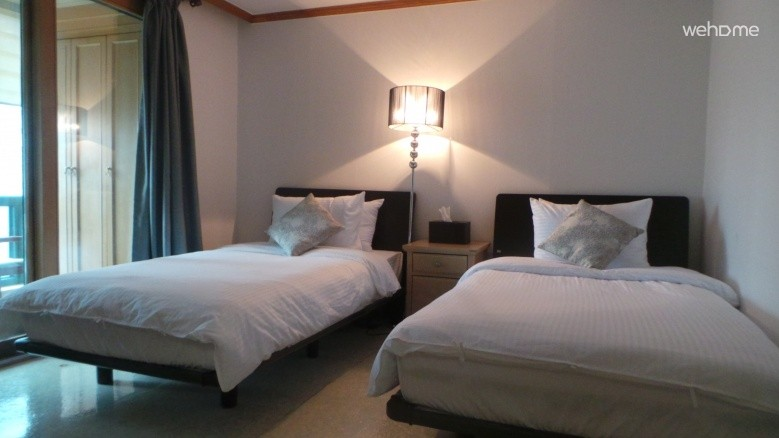 2 Super single beds Private_Gangnam Guest House SJ