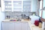Toaster, cups, glasses, dishes, bowls, spoons, forks, tea spoons, tea forks, kitchen utensils