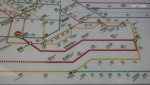 subway line map ... red bold line is Shinbundang Line (Kangnam-Gwanggyo)